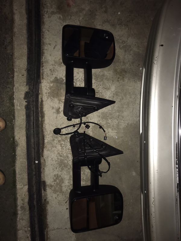 Tow mirrors led signals heated 4 bolts
