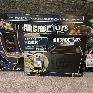 Arcade1Up Space Invaders Cabinet and Riser for Sale in Wenatchee, WA