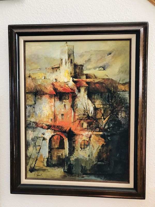 Painting . Oil Artist F. Felmart