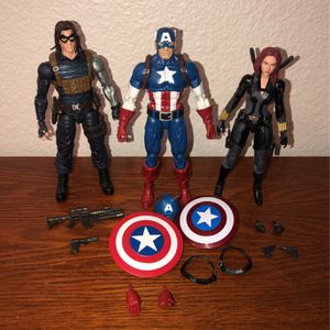 Marvel Legends Captain America Winter Soldier Black Widow for Sale in Upland, CA