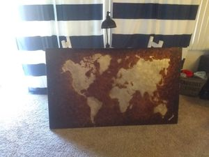 Pier 1 world map canvas for Sale in Costa Mesa, CA