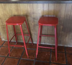2 Pier 1 imports Tall red stools for Sale in Bakersfield, CA