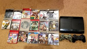PS3 Slim 500gb 2 Controllers 17 Games for Sale in New Braunfels, TX