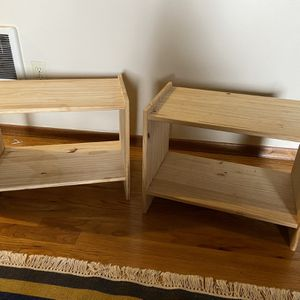 PENDING 2 Wooden Shelves / Nightstands for Sale in Portland, OR