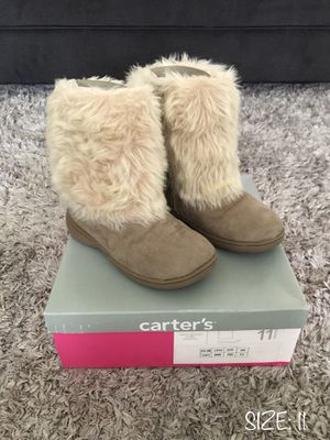 **LIKE NEW** BABY GIRL TODDLER BOOTS - SIZE 11- CARTERS for Sale in Houston, TX