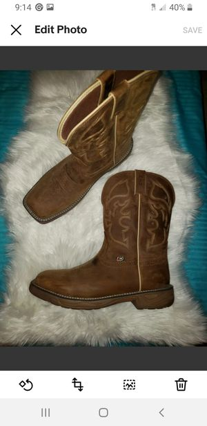 Mens Justin's Boots. Like new. for Sale in Aloha, OR