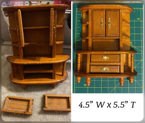 Dollhouse Cabinet /hutch 1:12 Scale for Sale in Layton,  UT
