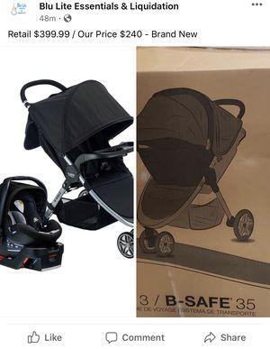 Britax B-safe 35 Travel system car set & stroller for Sale in Houston, TX