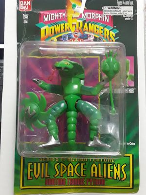 MIGHTY MORPHIN POWER RANGERS EVIL SPACE ALIEN'S DARTING TOUNGE PYTHORNEW IN UNOPENED PACKAGE for Sale in Los Angeles, CA