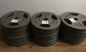Weights 10lb Standard 1 inch plates ($20 each plate) for Sale in Azusa, CA