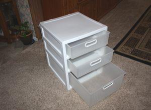 Sterilite 3 Drawer White Storage Cabinet for Sale in Garland, TX