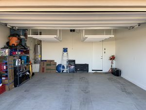 Garage Ceiling Storage Racks - Wall shelves, Tote Slide, 1,000 lb Rack for Sale in Scottsdale, AZ