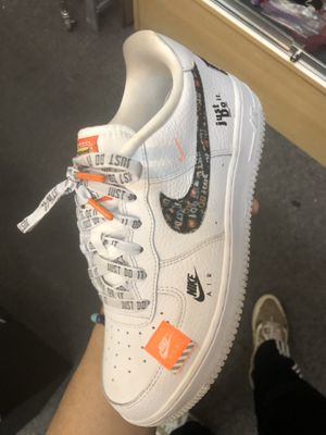 Nike Air Force 1 07 PRM JDI Premium White Just Do It AR7719-100 Size 7 Youth for Sale in Manteca, CA