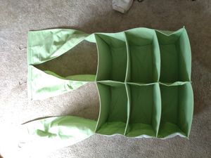 Hanging Large sectioned closet organizer with 3 hangers and side pockets for Sale in Encinitas, CA