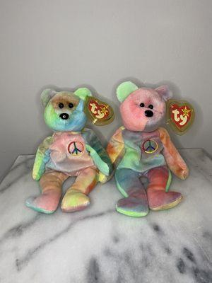 TY Original Beanie Babies Peace Bears for Sale in San Leandro, CA