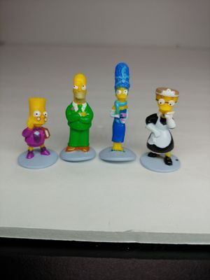 Simpsons Clue Board game suspect plastic pawns tokens replacement lot 4 pcs for Sale in Garden Grove, CA