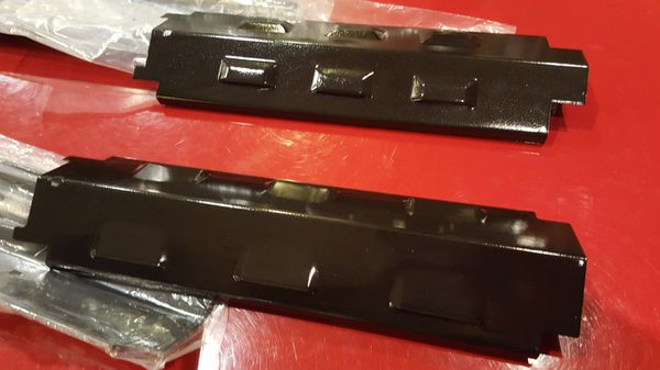 "BBQ Grill heat plate cover for the burners. 14 5/8"" length x (4"" - 4 1/4"" width ) $10 each. Let me know how many you need."