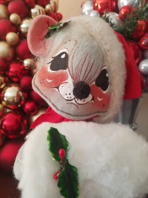 $15.00 - Christmas Mouse by Annalee, Vintage for Sale in Miami, FL