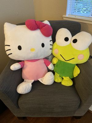 Large Hello Kitty and Keroppi Frog Plush for Sale in Pinole, CA