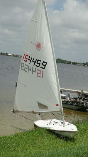 LASER SAILBOAT w Trailer for Sale in West Palm Beach, FL