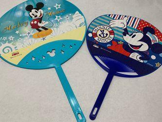 Dai-ichi Life Disney Mickey Mouse Plastic Hand Fan Set of 2 for Sale in Santa Ana,  CA