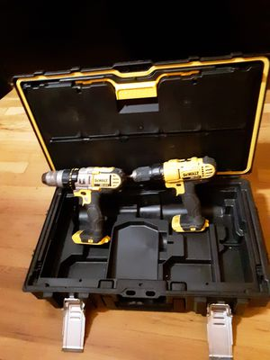 Dewalt hammer drill and drill 20 v plus hard case for Sale in Portland, OR