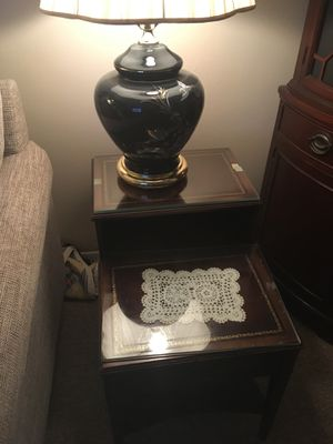 Wood end tables for Sale in Remus, MI
