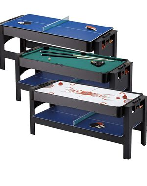 6ft Game Table 3 in 1 Ping Pong Table Tennis Pool Billiards Hockey Accessories for Sale in Rio Linda, CA