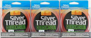 3 Silver Thread fluorocarbon fishing line 200 yds ZFC600200 clear 6 lbs for baitcaster baitcast or spinning reel for Sale in Litchfield Park, AZ
