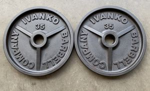 Ivanko Barbell Olympic 2x35lbs Plates High Quality for Sale in Clackamas, OR
