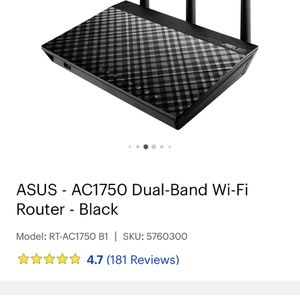 Asus AC1750 Router for Sale in Midlothian, TX
