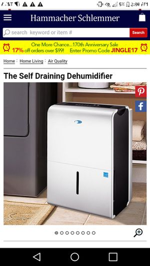 self draining dehumidifier for Sale in Houston, TX