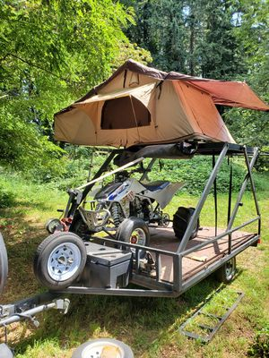 Toy hauler travel trailer ATV trailer pop up tent for Sale in Vancouver, WA