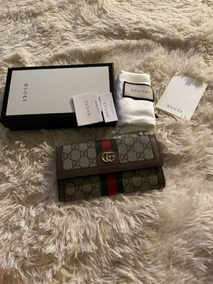Gucci Ophidia wallet new green red green web for Sale in Troy, MI