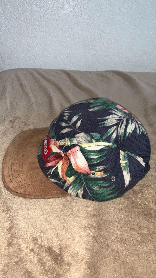 Supreme Floral Camp Cap