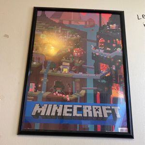 Minecraft Poster With Frame for Sale in Wichita, KS