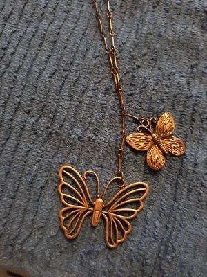 Vintage copper butterfly necklace for Sale in Maurepas, LA