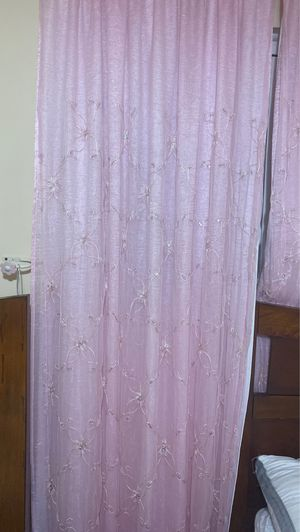 2 beautiful curtain bink color for Sale in Sterling Heights, MI