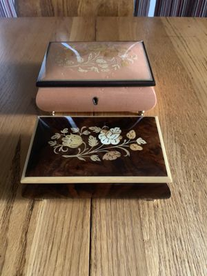 Italian jewelry Music boxes (2) for Sale in Round Rock, TX