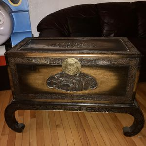 CARVED CHINESE CHEST WITH STAND for Sale in Aurora, CO