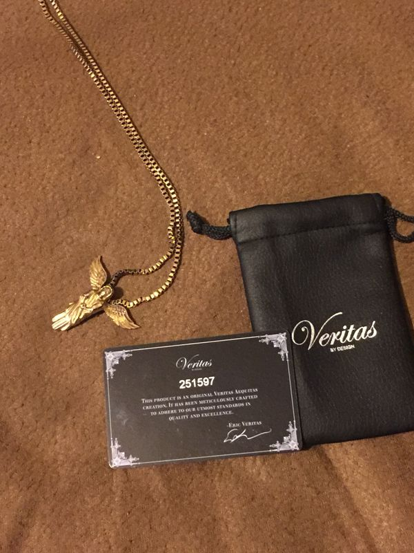 Veritas gold plated chain and Angel pendent