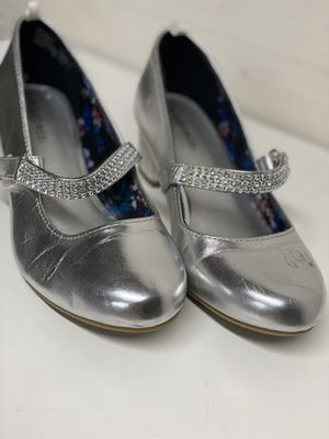 Silver Metallic Bling Girls Low Heel Shoes for Sale in Lake Forest, CA