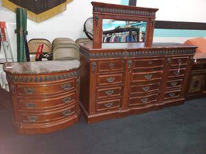 Beautiful Dresser, Nightstand, & Mirror for Sale in Winter Garden, FL