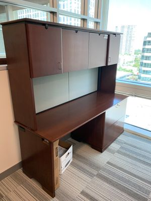 Work Desk With Cabinets for Sale in Boca Raton, FL