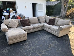 Microfiber Large Sectional Couch for Sale in Fremont, CA