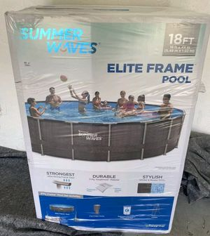 New Summer waves 18 ft x 48 inches elite frame with filter cover and ladder. Ready for pick up. for Sale in Medford, MA
