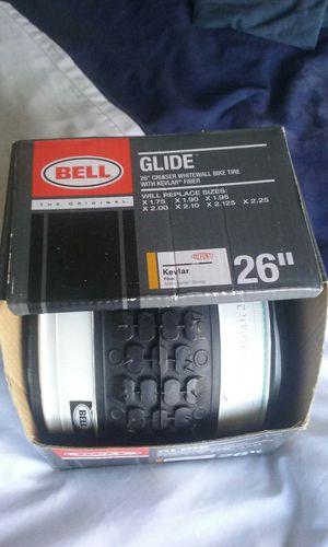 Bell Glide 26 Cruiser Whitewall bike Tire with klevar fiber for Sale in Portland, OR