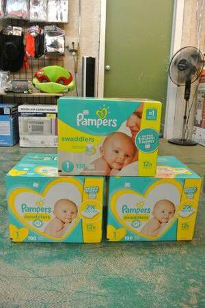 Pampers Swaddlers Newborn Baby Diapers Size 1 198 Count for Sale in Scottsdale, AZ