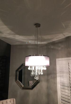 "Chandelier , blk with crystals 18"" diameter 6 lights for Sale in Claremont, CA"