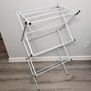 Compact foldable drying rack in pale grey / blue. for Sale in Arlington, VA